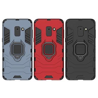 voordelige Galaxy A-serie hoesjes / covers-hoesje Voor Samsung Galaxy A8 2018 Schokbestendig / Ringhouder Achterkant Effen / Schild Hard PC