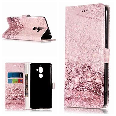 Etui Käyttötarkoitus Nokia Nokia 7 Plus / Nokia 6 2018 Lomapkko / Korttikotelo / Tuella Suojakuori Marble Kova PU-nahka varten Nokia 7 Plus / Nokia 6 2018 / Nokia 1