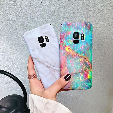 Недорогие Чехлы и кейсы для Galaxy S-Кейс для Назначение SSamsung Galaxy S9 Plus / S9 Матовое / С узором Кейс на заднюю панель Мрамор Твердый ПК для S9 / S9 Plus / S8 Plus