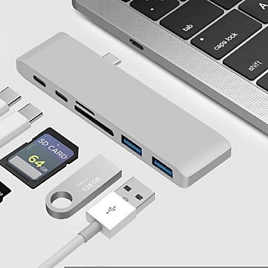 Type-C USB Cable Adapter All-In-1 Adapter For Macbook / MacBook Air / MacBook Pro 0 cm For Aluminum