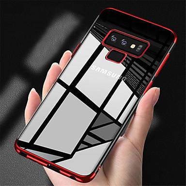 fodral Till Samsung Galaxy Note 9   Note 8 Plätering   Genomskinlig Skal  Enfärgad Mjukt TPU ff095a0921f6d