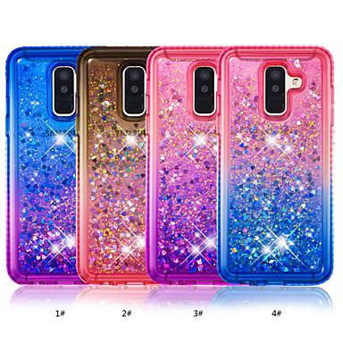 voordelige Galaxy A-serie hoesjes / covers-hoesje Voor Samsung Galaxy A6 (2018) / A6+ (2018) Strass / Stromende vloeistof Achterkant Kleurgradatie Zacht TPU