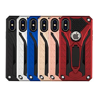 voordelige iPhone 5 hoesjes-hoesje Voor Apple iPhone XS / iPhone XR / iPhone XS Max Schokbestendig / met standaard Achterkant Effen / Schild Hard PC
