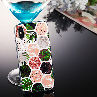 voordelige iPhone 6 Plus hoesjes-hoesje Voor Apple iPhone XS / iPhone XR / iPhone XS Max IMD / Patroon Achterkant Marmer Zacht TPU