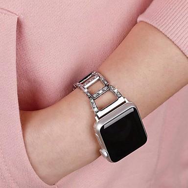 Недорогие Ремешки для Apple Watch-Ремешок для часов для Apple Watch Series 4 / Apple Watch Series 4/3/2/1 Apple Классическая застежка Металл Повязка на запястье
