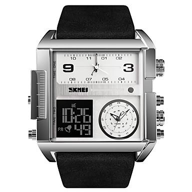 Χαμηλού Κόστους Ανδρικά ρολόγια-Ανδρικά Αθλητικό Ρολόι Στρατιωτικό Ρολόι Ψηφιακό ρολόι Ψηφιακό Γνήσιο δέρμα Μαύρο / Καφέ 30 m Ανθεκτικό στο Νερό Συναγερμός Ημερολόγιο Αναλογικό-Ψηφιακό Πολυτέλεια Μοντέρνα - / Ενας χρόνος