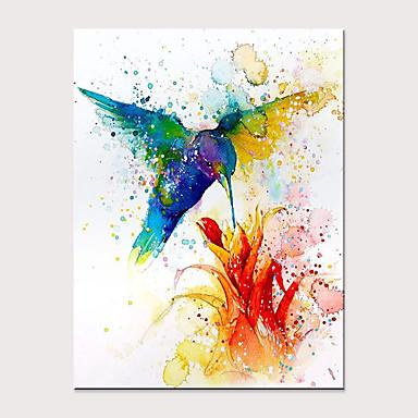 abordables Mural-Pintura al óleo pintada a colgar Pintada a mano - Abstracto Pop Art Modern Sin marco interior