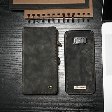 voordelige Galaxy S-serie hoesjes / covers-hoesje Voor Samsung Galaxy S8 Portemonnee / Kaarthouder / met standaard Volledig hoesje Effen Hard PU-nahka
