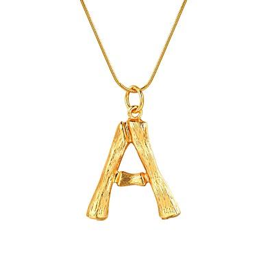economico Collana-Per donna Collane con ciondolo Nome Lettere dell'alfabeto Donne Di tendenza Lega Oro Argento 55 cm Collana Gioielli 1pc Per Regalo Quotidiano