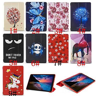 voordelige Samsung Tab-serie hoesjes / covers-hoesje Voor Samsung Galaxy Tab A2 10.5(2018) Flip / Ultradun / Patroon Volledig hoesje Eenhoorn / Flamingo / dier Zacht Siliconen