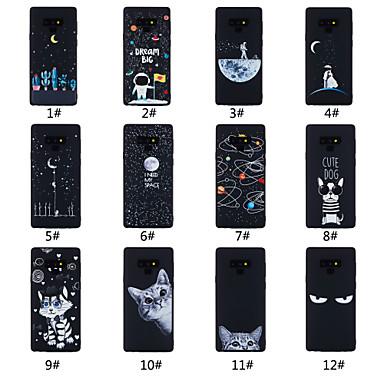 voordelige Galaxy Note-serie hoesjes / covers-hoesje Voor Samsung Galaxy Note 9 Mat / Patroon Achterkant Woord / tekst / Landschap / dier Zacht TPU