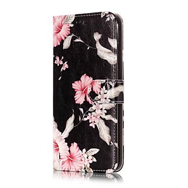 ieftine Carcase / Huse de LG-Maska Pentru LG LG V30 / LG Stylo 4 / LG K10 2018 Portofel / Titluar Card / Cu Stand Carcasă Telefon Floare Greu PU piele