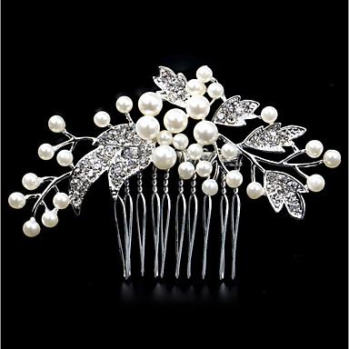 ieftine Bijuterii de Păr-Pentru femei Modă Imitație de Perle Ștras Aliaj Piepteni de Păr Nuntă Zilnic - Floral / Leaf Shape