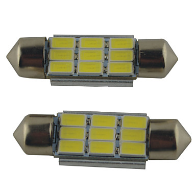 voordelige Autobinnenverlichting-2pcs 39mm / 36mm / 41mm Automatisch Lampen 2W SMD 5630 215lm 9 Leeslamp