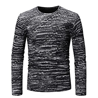 Men's Basic T-shirt - Color Block / Graphic Print