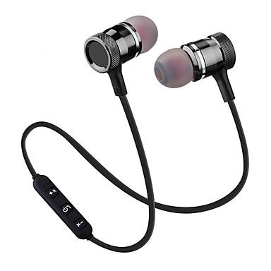 Factory OEM في الاذن بلوتوث 4.2 Headphones سماعة معدن الهاتف المحمول سماعة إبداعي / ستيريو / مع ميكريفون سماعة