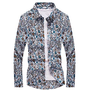Men's Active / Basic Shirt - Polka Dot / Geometric