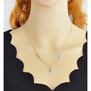 billige Mode Halskæde-Dame Belcher Charm halskæde Kors Ondt øje Mode Smuk Guld Sølv 47.5 cm Halskæder Smykker 1pc Til Daglig
