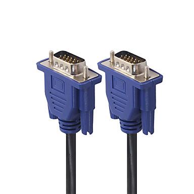 voordelige VGA-5m computermonitor vga verlengkabel vga kabel hd 15-pins mannelijk naar mannelijk vga snoer koperen lijn voor laptop pc projector