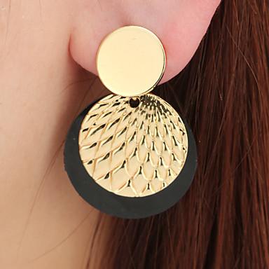 Dámské Mince Visací náušnice - Geometrik Klasické Šperky Černá a zlatá Pro Svatební Denní Street 1 Pair