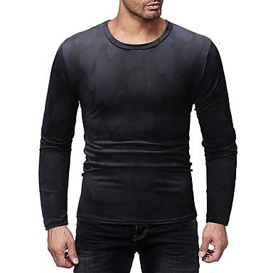 Men's Basic T-shirt - Color Block Print