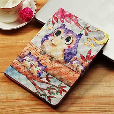 voordelige Samsung Tab-serie hoesjes / covers-hoesje Voor Samsung Galaxy Tab S4 10.5 (2018) / Tab A2 10.5(2018) T595 T590 / Tab E 9.6 Portemonnee / Kaarthouder / met standaard Volledig hoesje Uil Hard PU-nahka