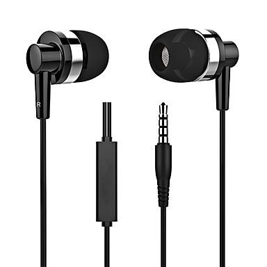LITBest Dans l'oreille Câblé Ecouteurs Ecouteur Alliage d'aluminium / Le gel de silice Téléphone portable Écouteur Stereo / Avec Microphone Casque