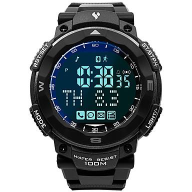 Χαμηλού Κόστους Ανδρικά ρολόγια-Ανδρικά Στρατιωτικό Ρολόι Ιαπωνικά Γιαπωνέζικο Quartz καουτσούκ Μαύρο 100 m Ανθεκτικό στο Νερό Smart Bluetooth Ψηφιακό Μοντέρνα Πολύχρωμα - Γκρίζο Ενας χρόνος Διάρκεια Ζωής Μπαταρίας