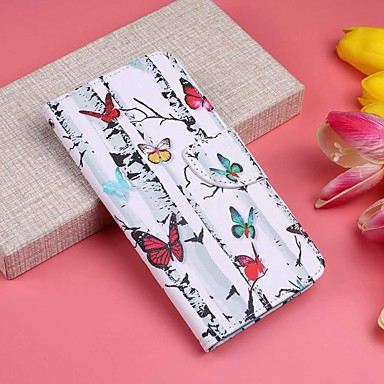 Case For Huawei P20 Pro / P20 lite Wallet / Card Holder / with Stand Full Body Cases Butterfly / Tree Hard PU Leather for Huawei P20 / Huawei P20 Pro / Huawei P20 lite