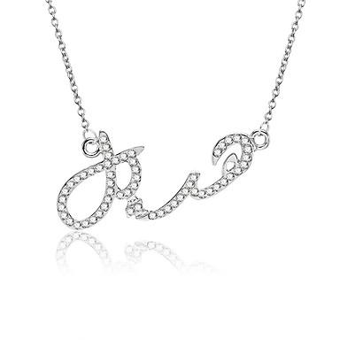 2972438b41b Women's Cubic Zirconia Pendant Necklace Monogram Letter Fashion Modern  Initial Chrome Imitation Diamond Silver 45+