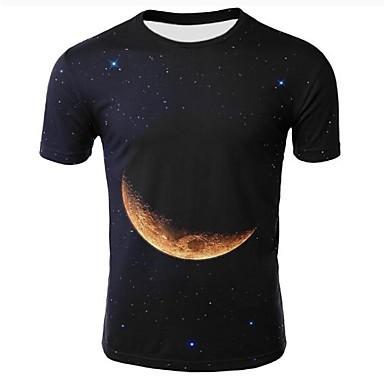 c315d5ef908f Χαμηλού Κόστους Ανδρικά μπλουζάκια και φανελάκια-Ανδρικά Μεγάλα Μεγέθη T- shirt 3D Στρογγυλή Λαιμόκοψη