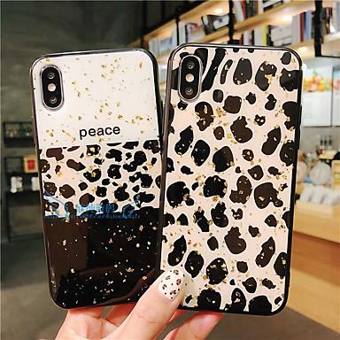 voordelige iPhone 6 hoesjes-hoesje Voor Apple iPhone XS / iPhone XR / iPhone XS Max Patroon Achterkant Luipaardprint Zacht TPU