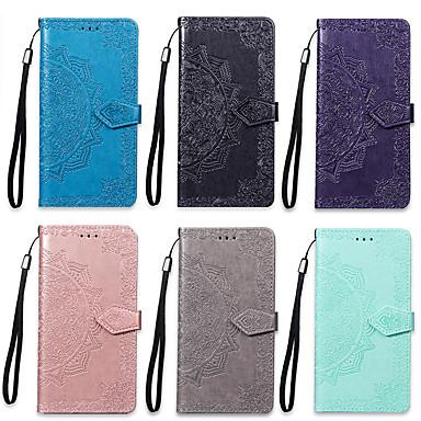 voordelige Hoesjes / covers voor Sony-hoesje Voor Sony Sony Xperia XZ3 / Xperia XA3 Portemonnee / Kaarthouder / met standaard Volledig hoesje Mandala Hard PU-nahka