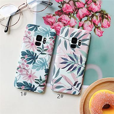 voordelige Galaxy S-serie hoesjes / covers-hoesje Voor Samsung Galaxy S9 / S9 Plus / S8 Plus Ultradun / Patroon Achterkant Planten / Bloem Hard PC