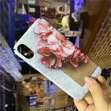 voordelige iPhone X hoesjes-hoesje Voor Apple iPhone XS / iPhone XR / iPhone XS Max Glow in the dark / Patroon Achterkant Bloem Hard PC