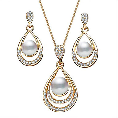 2d8af4409f86c cheap Jewelry Sets-Women's 3D Jewelry Set Imitation Pearl, Rhinestone
