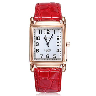 Pentru femei Quartz Quartz Stil Oficial PU piele Negru / Alb / Roșu Ceas Casual Analog Modă Elegant - Alb Negru Roșu-aprins Un an Durată de Viaţă Baterie / Oțel inoxidabil