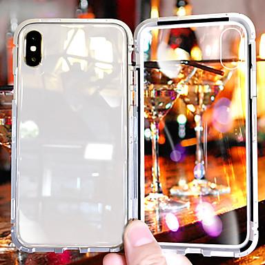 voordelige iPhone X hoesjes-hoesje Voor Apple iPhone XS / iPhone XR / iPhone XS Max Schokbestendig / Transparant Achterkant Transparant Hard Gehard glas / Aluminium