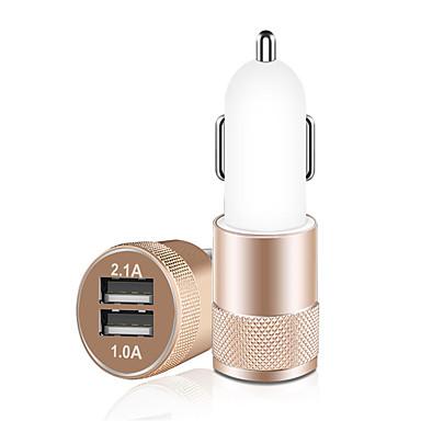billige Nyheter-bil lader, 3.1a dual usb sigarett lighter adapter, aluminiumslegering rask bil lading mini