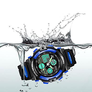 SKMEI Ceas Sport Ceas digital Quartz Piele PU Matlasată Negru 30 m Rezistent la Apă Alarmă Calendar Analog - Digital Modă Pentru Copii - Galben Rosu Albastru Doi ani Durată de Viaţă Baterie