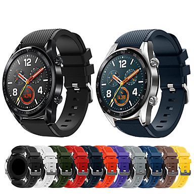 Недорогие Ремешки для часов Huawei-Ремешок для часов для Watch 2 Pro Huawei Спортивный ремешок силиконовый Повязка на запястье