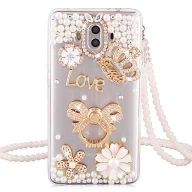 voordelige Huawei Mate hoesjes / covers-hoesje Voor Huawei Huawei P20 / Huawei P20 Pro / Huawei P20 lite Schokbestendig / Strass Achterkant Glitterglans Hard TPU / P10 Plus / P10 Lite / P10 / Mate 9 Pro