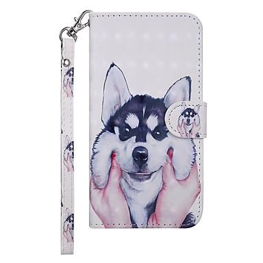 voordelige Galaxy A-serie hoesjes / covers-hoesje Voor Samsung Galaxy Galaxy A50 (2019) Portemonnee / Kaarthouder / met standaard Volledig hoesje Hond Hard PU-nahka
