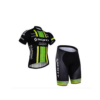 voordelige Motorjacks-2016 scott team rijpak korte mouwen shorts pak zomer heren vochtafvoerende racefiets kleding