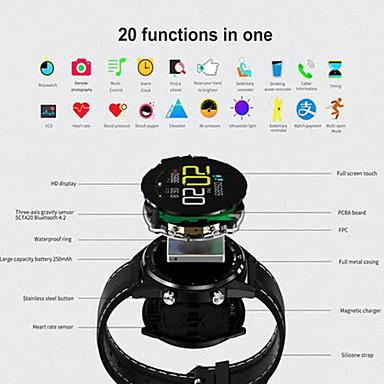 זול שעונים חכמים-KUPENG GT28 יוניסקס חכמים שעונים Android iOS Blootooth Smart ספורטיבי עמיד במים מוניטור קצב לב מודד לחץ דם מד צעדים מזכיר שיחות מד פעילות מעקב שינה תזכורת בישיבה / מסך מגע / כלוריות שנשרפו