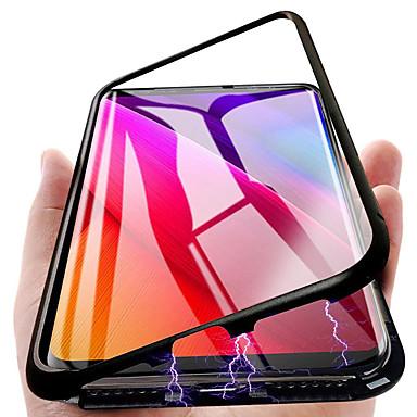 Недорогие Чехлы и кейсы для Galaxy Note-Кейс для Назначение SSamsung Galaxy Note 9 / Note 8 Магнитный Чехол Однотонный Твердый Металл
