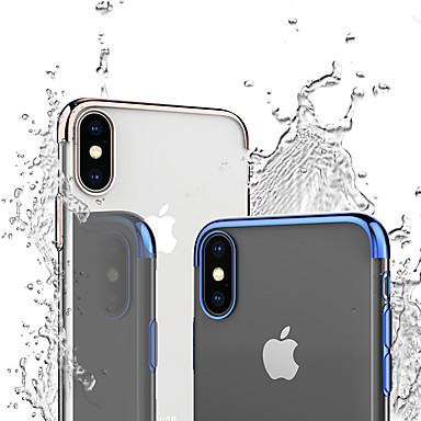 voordelige iPhone 7 hoesjes-hoesje Voor Apple iPhone XS / iPhone XR / iPhone XS Max Schokbestendig / Beplating / Transparant Achterkant Effen / Transparant Zacht TPU