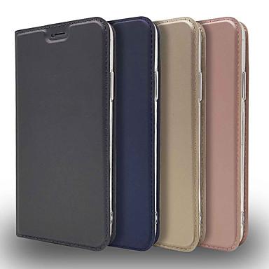 voordelige iPhone 5 hoesjes-hoesje voor apple iphone xr / iphone xs max ultradunne / flip / met standaard full body cases effen gekleurde harde pu leer voor iphone 5 / se / 5s / iphone 6s / 7/8 / iphone 6s plus / 7 plus / 8 plus