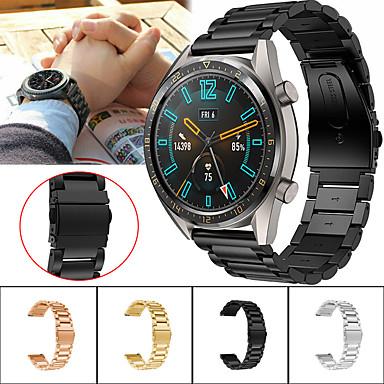 povoljno Pogledajte vrpce za Huawei-Pogledajte Band za Huawei Watch GT / Watch 2 Pro Huawei Sportski remen Metal / Nehrđajući čelik Traka za ruku