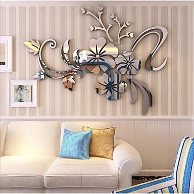 Недорогие Искусство стены-Декоративные наклейки на стены - 3D наклейки / Зеркальные стикеры Арабеска / 3D Спальня / В помещении